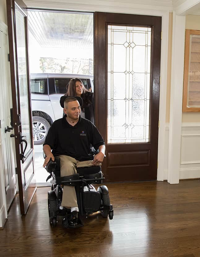 Luis Avila house in Bethesda Maryland with the Gary Sinise Foundation.