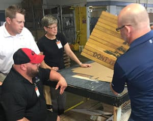 American OEM Wood Floors invited GSF smart home recipients for a tour and company picnic. Photos courtesy of American OEM Wood Floors.