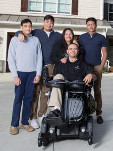 CPT Luis Avila and his family in their new smart home. Photo courtesy of Gary Sinise Foundation.