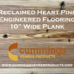 reclaimed heart pine by cummings veneer products