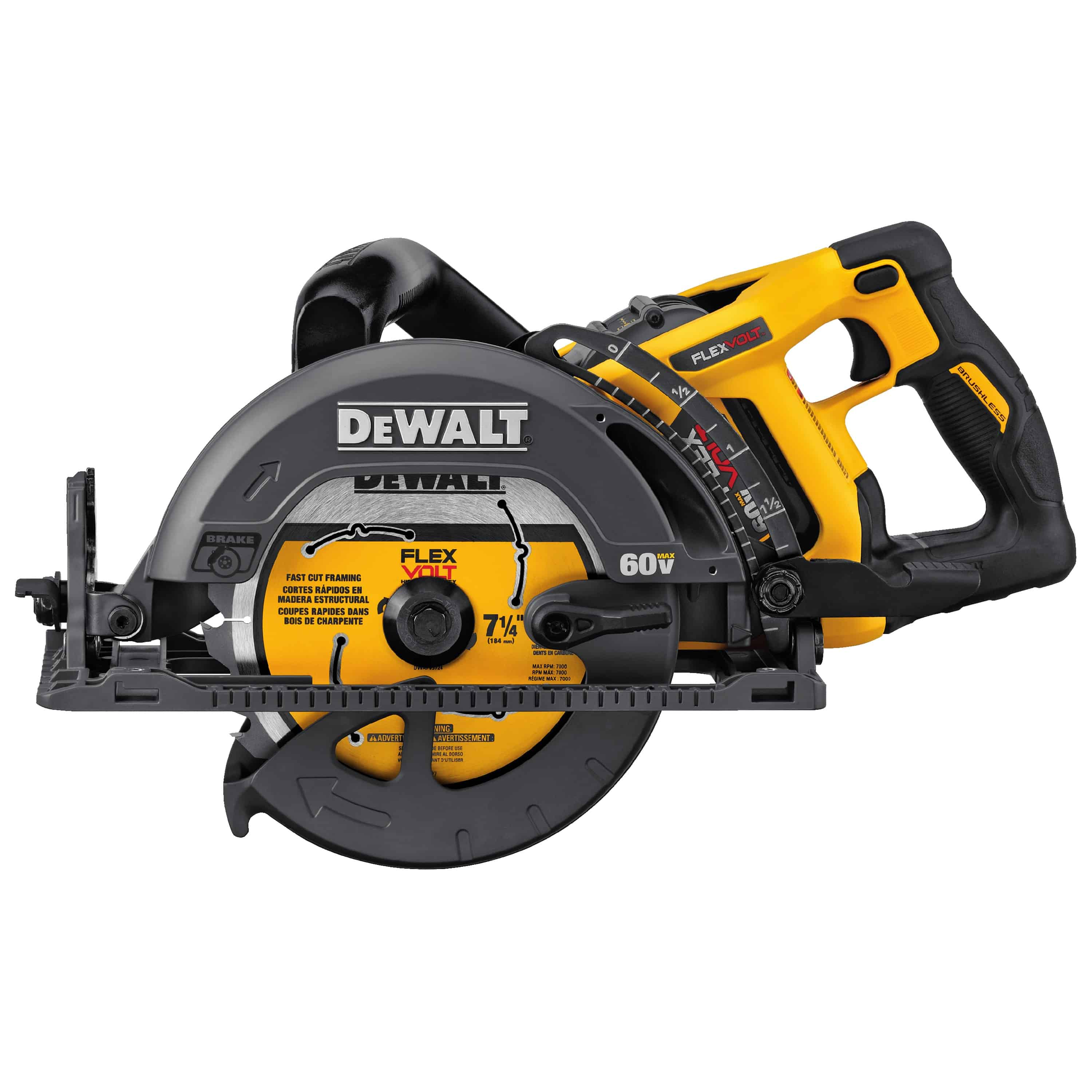 Dewalt 174 Launches Flexvolt 174 60v Max 7 1 4 Worm Drive